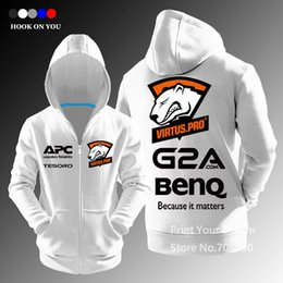 Wholesale Pro Animals - Wholesale-LOL CSGO Gaming Team Virtus.pro zipper women Men casual hoodies sweatshirt fleece jacket E-Sport Clothing Jersey Virtus pro