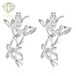 Wholesale Jewelry Store Rhinestones Earrings - Online Jewelry Stores Hot Sale New Romantic Charming Silver Plated Special Flower Dangle Earrings Fashion Jewellery for Women