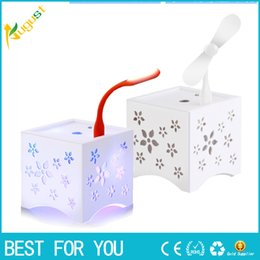 Wholesale Air Freshener For Office - Ultrasonic 450 ml of LED Rainbow Aroma Diffuser With Anion Perfume Diffuser Humidifier usb mini fan Air Freshener for the Home Office new