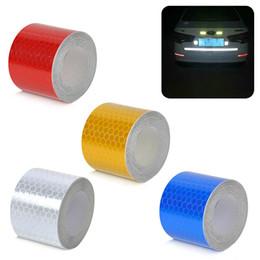 2019 3m auto a nastro riflettente 3m * 5cm strisce riflettenti adesivi per auto auto-styling moto decorazione adesivi sicurezza nastri marchio d'avvertimento