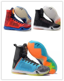 Wholesale Kb Shoes Elite - 2018 New Kb 10 What The Kobe X Elite high basketball shoes mens athletic men mens Kb10 sports sneakerhoes with box
