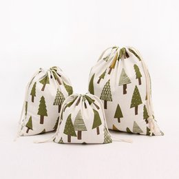 Wholesale Cloth Gift Wrap - Drawstring bags Christmas tree Gift wrapping bag Gift pouch Jewelry pouch bag mix color Candy bags package bag JF-276