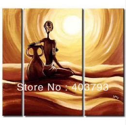Wholesale Pot Painting Pictures - Modern abstract fashion oil painting on canvas for home decoration south african landscape beauty with pot painting art