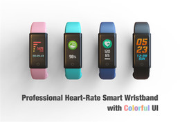Wholesale Firefox Android - 2017 Bluetooth Bracelet with Heartrate Monitor Blood Pressure Smart Watch For IOS Android Smartphone Smartwatches Activity Type Vibrating