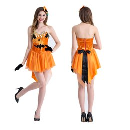 Wholesale Pumpkin Costume Women - Characteristics of Halloween pumpkins role-playing parties under cosplay party exhibition stage performance clothing