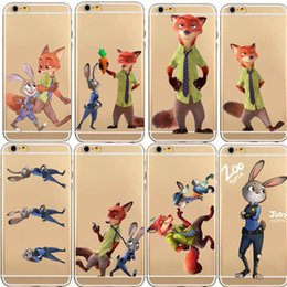 Wholesale Despicable Cases - TPU Silicon Cover Despicable Zootopia Case For iPhone 5 5S 6 6S 6S Plus Soft Clear Fundas Cover Coque Capa Para Nick Wilde