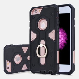 Wholesale Iphone Pouch Korean - Korean Hybrid Phone Cases With Holder Ring TPU+PC for Iphone 7  7plus Iphone 6 6s 6Plus SamSung Galaxy S7 S7edge