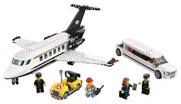 Wholesale Airport Toys - Lepin 02044 City Airport VIP Service Plane Block Set Limousine Car Model Toy Compatible with 60102