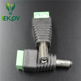 jacks dc Rebajas 100 unids conector macho enchufes jack para 5050/3528 SMD LED Strip sigle color de luz DC fuente de alimentación DC Adaptador de CA Cable del enchufe al por menor