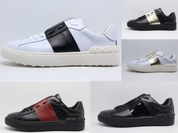 Wholesale Women Casual Shoes Woven - Hot Women Men Brand Rivets Flats Shoes high quality weaving Leather Patchwork Fash ion Casual Shoes Studded Men Shoes Brand Style 16 Color