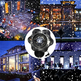Wholesale Led Snowflake Lights Blue White - Hot New Moving Snowfall LED Snowflake Landscape Laser Projector Wall Lamp Xmas Light White Snow Sparkling Landscape Projector Lights