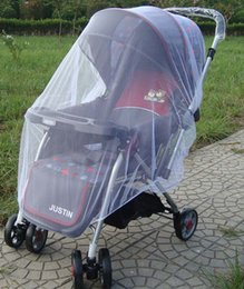 Wholesale Mosquito Netting Baby - summer children baby stroller pushchair mosquito net netting accessories curtain carriage cart cover insect care 10 p l