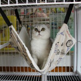 Canada 3 couleurs mignonnes animaux série douce peluche chat suspendu lit pour animaux de compagnie chats cage hamac 100pcs / lot livraison gratuite 35 * 35 cm Offre
