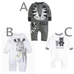 Wholesale Babies Leopard Print One Piece - Autumn Europe Infant Baby One-piece Rompers Kids Cartoon Animal Printed Long Sleeve Overalls Jumpsuits Children Cotton Rompers