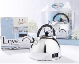 "Wholesale Timers Favor - 100sets lot, ""Love is Brewing"" Teapot Timer Culinary Timer Of Kitchen Wedding Gift Wedding Favor"