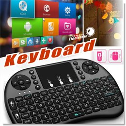 Wholesale Mini Touch Pad Keyboard - Air Mouse Combo 2.4G Mini i8 Wireless Keyboard with Touchpad for PC Pad Google Andriod TV Box Xbox360 PS3 HTPC IPTV Smartphoones(OTG)