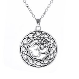 Wholesale Ohm Jewelry - Myshape Jewelry Religious NecklaceYoga Om Aum Ohm Symbol necklace Adjustable Necklaces Gift for Man And Woman Fast Shipping