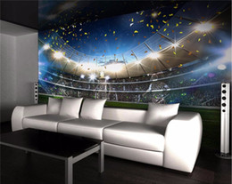 Wholesale Chinese Painted Silk - Custom Photo Wallpaper Mural Wall Sticker HD High Football Field 3D Backdrop Decorative Painting papel de parede