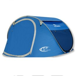 Wholesale Pop Up Tents - Large throw tent! outdoor 3-4 persons automatic speed open throwing pop up windproof waterproof beach camping tent large space