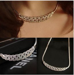 Wholesale Three Triangle Necklace - New Hot Sexy Multi Layer Chain Necklace Geometric Triangle Three Layered Chain Initial Necklace Woman Sale