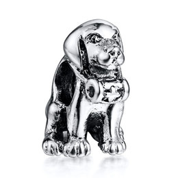 Wholesale Pandora Dog Charm Bracelet - Cute Medical Dog Charm 925 Sterling Silver European Charms Bead Fit Pandora Snake Chain Bracelets Fashion DIY Jewelry Wholesale 117