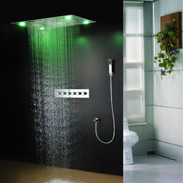 "Wholesale Mixer 24 - 304 stainless steel 24"" x 30"" luxury shower faucet set with multi-function showerhead thermostatic mixer and handheld shower"