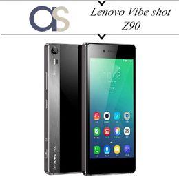 Wholesale Cellphones Lenovo - Wholesale-100% Original Lenovo Vibe Shot Z90 Z90-7 4G LTE CellPhone Android 5.0 Snapdragon Octa Core 2.7GHz 5.0''1080p 3G RAM 32G