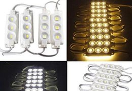 Wholesale Waterproof Led Lights 1w - Free shipping 3LED single color module light SMD 5050 IP 65 RGB WHITE waterproof LED modules sign letters back light 3led 1W 72lm DC 12V