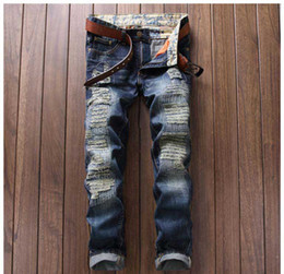 Wholesale Alternative Gifts - Christmas gift for New men's jeans child punk alternative white cloth color stitching nightclub sportsman Slim Straight jeans