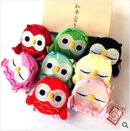 Wholesale Crochet Owl Purses Handbags - children Kids Handmade Crochet Cute Owl Design Handbag Purse Bag cute coin bags wallet