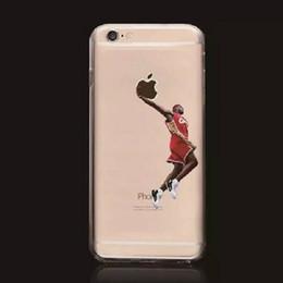 Coperture di iphone di pallacanestro online-Casi popolari del telefono dei giocatori di pallacanestro di vendita calda di TPU per la copertura posteriore di Apple iPhone 7 Trasporto libero