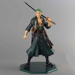 Wholesale Pop Zoro - Free Shipping Anime One Piece 23cm P.O.P POP Roronoa Zoro After 2 Years PVC Figure Toy PVC Action Figure Collection Model Toy