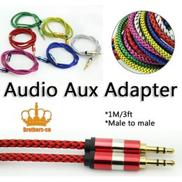 Wholesale Mini Pc Dvi - 3.5mm Auxiliary Cable Audio Cable Male To Male Aux Cable 3m For iphone For ipod For Mac PC MP3 MP4