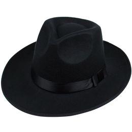 Wholesale Vintage Wedding Hats - Wholesale-Gentleman High-end Vintage Hat Wedding Bridegroom Wearing Hat Men Women Retro Cap British Style Hat Black Gray Coffee