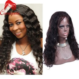 Wholesale Wigs For Women Malaysia - 8A Full Lace Human Hair Wigs For Black Women Loose Wave Lace Front Human Hair Wigs Malaysia Virgin Hair Lace Front Wigs