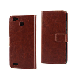 Wholesale Hard Plastic Horse - For Huawei G8 Mini Crazy Horse PU Wallet Leather Pouch Flip Case Stand Credit Card Hard Plastic Colorful Cell Phone Bag Skin Cover 1pcs