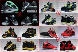 Wholesale Khaki Colour Sports Shoes - 20 Colours (With Box) Wholesale Retro 4 IV University Red Oreo Fear Bred Black Cement 11Lab4 Men's Basketball Sport Shoes