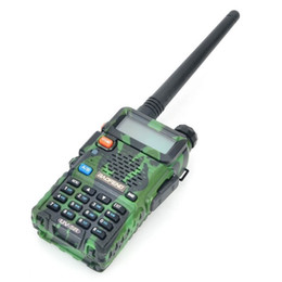 Wholesale Cheap Talkie Walkie - CHEAP Baofeng UV-5R 128 Channels VHF UHF Mini Handheld Walkie Talkie with High-gain Antenna color:camouflage