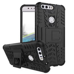 Wholesale Cellphone Mate - Kickstand Cellphone Cases Shockproof Rugged Back Cover For Huawei Honor 7 8 5X 6X 2016 Holly 2 Plus Play 5X Y6 Pro GR5 2017 Mate 9 Lite