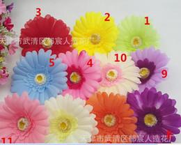 Simülasyon Gerbera çiçek kafa Gerbera papatya çiçek saç aksesuarları çantası dekore yapay çiçekler papatya nereden