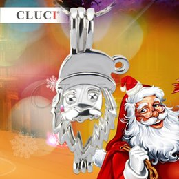 Wholesale Santa Claus Plates - Christmas present Christmas Gift of 18K silver plated Santa Claus cage pendant Pack of 5pcs, 31*14.3*10.2mm