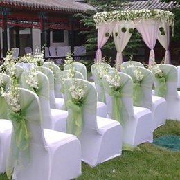 Wholesale Heart Shaped Arches - 14 Colors 48*480cm Wedding Decoration Organza DIY Silk Flower Heart-shaped Arches Happy Door Flower Door Decoration