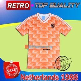 Wholesale Real Gold Men - Retro 1988 World Cup champion Netherlands Soccer Jersey Top Thai quality 1988 Holland Retro 04 05 Real Madrid MEXICO 1998 soccer jersey