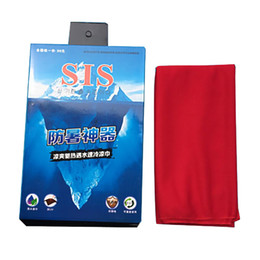 Wholesale Towel Gift Packaging - HOT Gifts package Cold Towel Summer Sports Ice Cooling Towel Double Color Hypothermia cool Towel 34*81cm for sports children Adult
