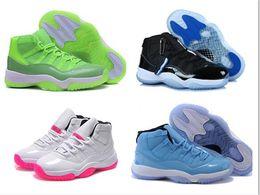 Descuento zapatos de satén online-Oro metálico Olímpico bajo 11 11s envío gratis Zapatillas de baloncesto Mujer deportes zapatillas barato descuento