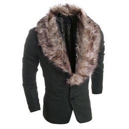 Wholesale Korean Men Jacket Free Shipping - Wholesale-2016 Classic Hot Fashion Fur Collar Leisure Blazer Suit Jackets Korean Style Stylish Masculino Blazer Coat Free Shipping S1225