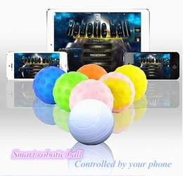 Wholesale Wireless Robotic - App Controlled Wireless Robotic Ball for IOS Android Devices Robot Balls Intelligent Remote Control Toys RC Fashion Gifts Magic Cat Dog Toy