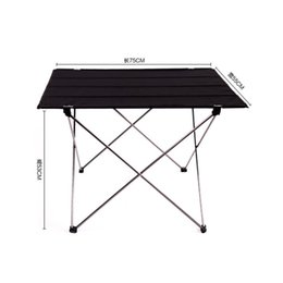 Wholesale foldable outdoor tables - Wholesale- 2017 Outdoor Folding Table Ultra-light Aluminum Alloy Structure Portable Camping Table Furniture Foldable Picnic Table Oxford