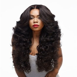 Wholesale Curly Synthetic Hair Wigs - WoodFestival women afro wigs natural cheap hair wigs curly long synthetic fiber wigs black wavy heat resistant daily kinky curly wig cosplay