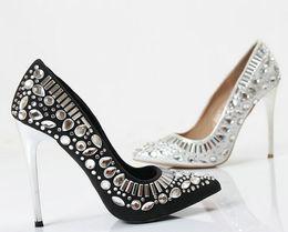 Wholesale Princess Diamond Platform Shoes - Sexy Luxury Princess women shoes pumps handmade female noble diamond wedding shoes sexy fashion women's 12cm high heels Dress shoes platform